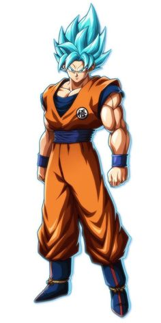 Super Saiyan Blue Goku Art - Dragon Ball FighterZ Art Gallery - Super Saiyan Blue Goku from Dragon Ball FighterZ - Dragon Ball Goku, Dragon Ball Super Artwork, Dragon, Super Saiyan Blue, Goku And Vegeta