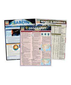 Geography Quick Study Laminated Reference Sheet Set #zulily #zulilyfinds