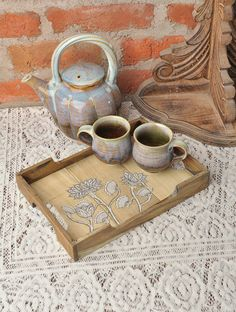 Lotus Pattachitra Gamhari Wood Tray - Small
