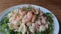 Shrimp Pasta Salad with a Creamy Lemon Dressing Video