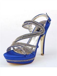 Sexy Luxury Diamond Wedding Shoes ASY08  / Heel High: 14 CM