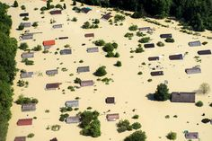 Residential buildings stand submerged in the floodwaters of the river Danube in Straubing, Germany on June //Flooding in Europe Places Around The World, Around The Worlds, Holidays Germany, Japan Earthquake, Danube River, Europe Photos, Central Europe, Germany Travel, Aerial View