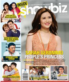 Sarah Geronimo is on the July 2012 cover of Inside Showbiz, now tagged as People's Princess, Inside Showbiz magazine is now available Geronimo, Magazine Covers, Comedy, Entertainment, Princess, News, People, Comedy Theater, People Illustration