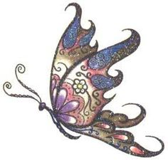 butterfly tattoos for sides she has this one on her left shoulder. Black Bedroom Furniture Sets. Home Design Ideas