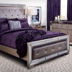 Pretty silver and lavender room