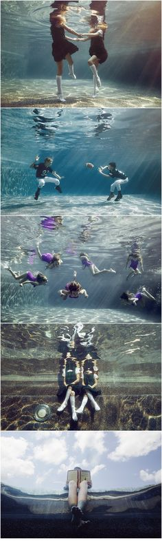 kids underwater photography, catholic girls, football players underwater, copyright alix martinez photography