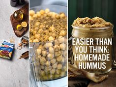 With a little help from Knorr, homemade hummus is nearly as easy as just opening a jar (but twice as delicious). Roasted Garlic Hummus, Homemade Hummus, Granola Bars, Deviled Eggs, Scones, Onion, Food Processor Recipes, Tasty, Jar