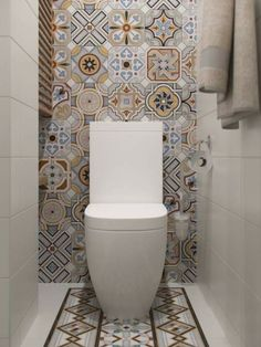 Stylish Apartment Redesign in Minsk Bathroom Design Small, Modern Bathroom, Bathroom Vintage, Ideas Baños, Tile Ideas, Toilet Room, Small Toilet, Toilet Design, Cozy Apartment