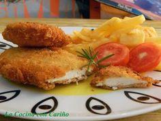 Milanesa de pollo a la mostaza y romero