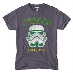 348705b1e8f1 Oregon Ducks NCAA Star Wars T-Shirt - Charcoal Tailgate Outfit