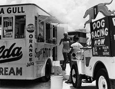 super hot refreshment stand, daytona beach, florida, 1954 • berenice abbott