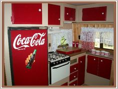 Travel Trailer Renovation: Remodeling a Travel Trailer...I can use all of my Coke decorations in my RV!!