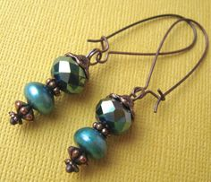 "Hey, girl earrings on French wires. $8.00.  Love that they're called ""Hey Girl""!!  http://www.etsy.com/listing/122886695/hey-girl?#"