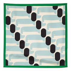 Orla Kiely | USA | Accessories | Winter Warmers | Silk Scarf (14AWDSH954) | Peppermint