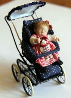 Dollhouse miniature doll by Catherine Muniere