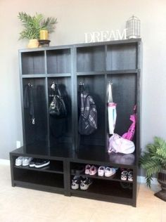 Mud room locker plans  Braden Shoe Shelf Entryway Bench   Braden Entryway Hutch