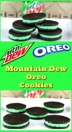 See how to make these Mountain Dew flavored Oreo cookies. It combines the best o… See how to make these Mountain Dew flavored Oreo cookies. It combines the best of the dessert world into one cookie. Mtn Dew Flavors, Oreo Flavors, Cookie Flavors, Cookie Recipes, Dessert Recipes, Mountain Dew Cake, Mountain Dew Cupcakes, Mountain Dew Ice Cream Recipe, Making Sweets