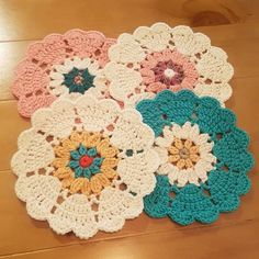 Watch The Video Splendid Crochet a Puff Flower Ideas. Wonderful Crochet a Puff Flower Ideas. Crochet Coaster Pattern, Crochet Mandala Pattern, Crochet Circles, Crochet Flower Patterns, Doily Patterns, Crochet Squares, Crochet Shawl, Crochet Flowers, Crochet Stitches