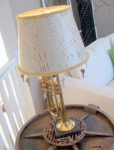 Player piano roll lamp shade