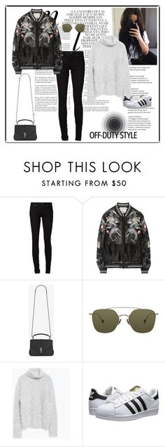 OFF-DUTY STYLE by sweetglamorous on Polyvore featuring moda, Zara, 3.1 Phillip Lim, Yves Saint Laurent, adidas Originals, Ahlem and Whiteley
