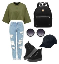 """""""Untitled #8"""" by hannahelmix on Polyvore featuring Topshop and Alice + Olivia"""