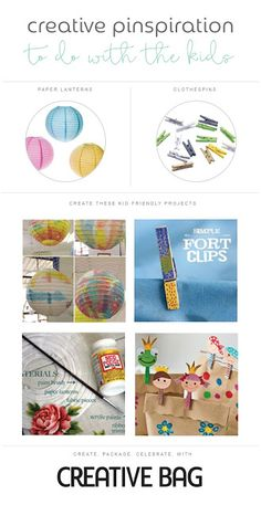 Creative Pinspiration to do with the kids using paper lanterns and clothespins