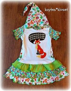 """Custom Boutique """"What does the FOX say"""" ? Upcycle Hooded Tee Dress"""