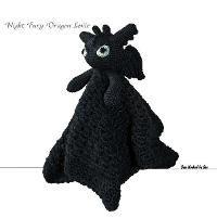 Name: 'Crocheting : 'Night Fury' Dragon Lovie Crochet Security Blanket, Crochet Lovey, Lovey Blanket, Crochet Bebe, Baby Blanket Crochet, Crochet For Kids, Crochet Dolls, Knit Crochet, Bunny Blanket
