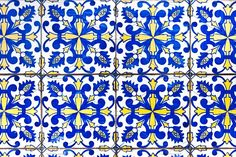 Portuguese tiles azulejos by slowcentury on @creativemarket