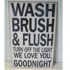 cheer up your bathroom with this lovely sign
