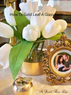 How To Gold Leaf A Glass Vase