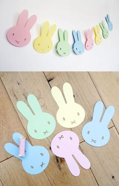 I've created a Bunny Takeaway Box and printable. This project is quick and inexpensive to make, and is ideal as a gift when filled with eggs, toys or baked treats. They would also make a cute alternative to a basket for an Easter Egg Hunt. Felt Crafts, Easter Crafts, Diy And Crafts, Crafts For Kids, Easter Garland, Easter Wreaths, Bunny Party, Easter Party, Decoration Creche