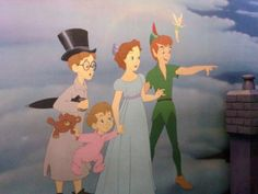 """Peter Pan! - """"There it is Wendy! Second star to the right and straight on 'till morning!"""""""
