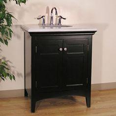 Granite Top 30-inch Single Sink Vanity