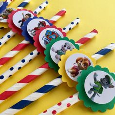 A personal favorite from my Etsy shop https://www.etsy.com/listing/534857596/paw-patrol-party-straws-paw-patrol