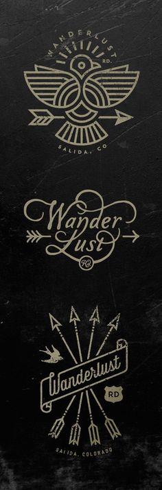 Wanderlust Logos by Jared Jacob of Sunday Lounge http://www.sundaylounge.com/
