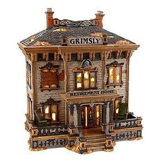 """DEPT 56 HALLOWEEN """" GRIMSLY RETIREMENT HOME """" # 4020229   VERY RARE ,BRAND NEW"""