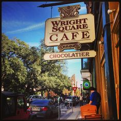 Wright Square Cafe is a great little lunch spot on York Street in Savannah, GA