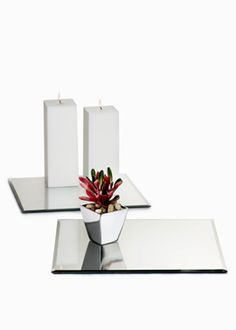 12- and 14-inch Square Table Mirrors