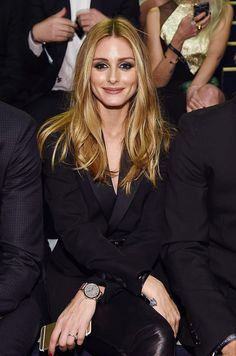 Olivia Palermo with a blonde textured-to-perfection haircut to bring to your next salon appointment