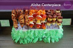 HOW TO: Aloha Centerpiece #occasionary #luau #summer #party #tiki