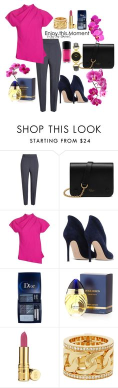 """""""Day fuchsia"""" by valya-strelc ❤ liked on Polyvore featuring Alexander Wang, Mulberry, Topshop, Gianvito Rossi, Boucheron, Elizabeth Arden, Henri Bendel and Gucci"""