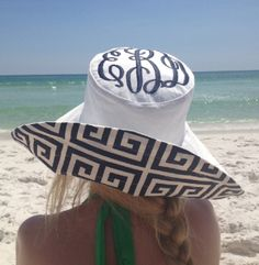 Barbie Cobb -- custom monogrammed beach hats  Brim couture