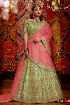 --->Kinas Designer is your one-stop shop for all types of Bridal Wear Collection. --->For more information contact us (Call/Whatsapp): +91 78028 85280 #lehenga #bridallehenga #weddinglenega #designerlehenga #lehengacholi #indianwedding #indianfashion #indianbride #weddingdress #bridalwear #bridal #indianwear#anarkalilehenga #bride #instafashion #style #traditionallehenga#india #sabyasanchi #manishmalhotra #handworklehenga Raw Silk Lehenga, Lehenga Dupatta, Green Lehenga, Bridal Lehenga Choli, Indian Wedding Lehenga, Indian Bridal Wear, Wedding Sarees, Lehenga Collection, Silk Skirt