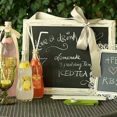 Chalkboards are perfect for every aspect of your wedding!
