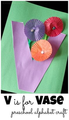 School Time Snippets: V is for Vase-Preschool Alphabet Craft. Pinned by SOS Inc. Resources. Follow all our boards at pinterest.com/sostherapy/ for therapy resources.