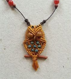 Owl necklace macrame tutorial
