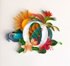 Arte Quilling, Quilling Letters, Quilling Work, Paper Quilling Designs, Quilling Paper Craft, Paper Crafts, Quilled Creations, Paper Engineering, Paper Artwork