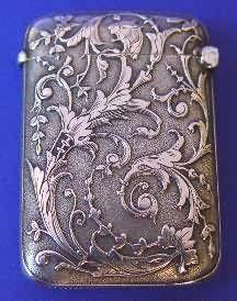 French Antique Silver Vesta Case - Daniel Bexfield Antiques.