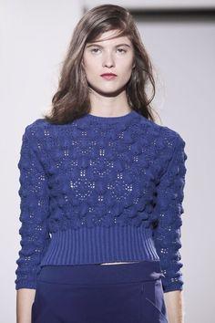 Beautiful blue knitwear by Chadwick Bell Spring 2014